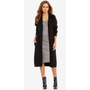 Laine Eyelash Shoulder Long Maxi Cardigan